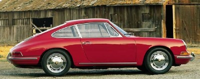 This 1964 Porsche 911 shows the classic body shape styled by Ferdinand Alexander