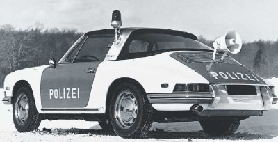 German police in Porsche's home state of Swabia used Porsche 911s in the late 1960s.
