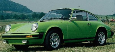 The 1974 Porsche 911 had a full-width taillight lens, soft