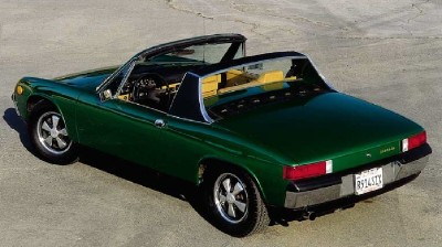 The unique rear design of the Porsche 914 made it stand out from the crowd.