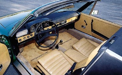 The roomy cockpit made the Porsche 914 quite practical for a two-seater sports car.