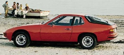 The Porsche 924 was a rear-wheel drive, which was unusual in a Porsche.