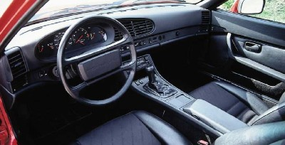 The updated dashboard of the Porsche 944 Turbo was more driver-friendly.