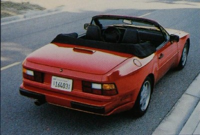 Porsche 944S2 convertible rear view