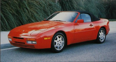 Porsche 944 S2 convertible with top up