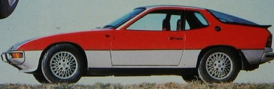 Porsche 924 Turbo side view