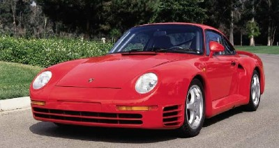 Styling for the Porsche 959 was carefully shaped to give zero lift -- important given the 195-mph top speed.