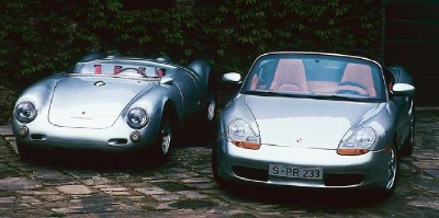 Porsche Type 550 Spyder and 1997 Porsche Boxster