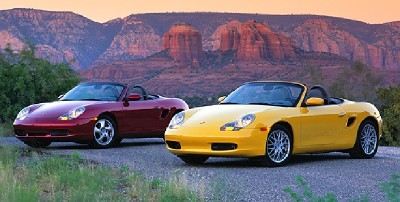 Porsche Boxster, left, and Porsche Boxster S