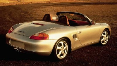 1999 Porsche Boxster rear view
