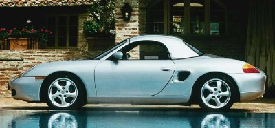 Porsche Boxster with removable hardtop