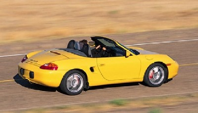 2000 Porsche Boxster S in motion
