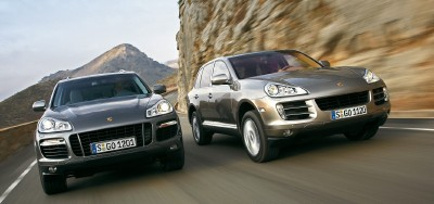 2008 Porsche Cayenne S and Porsche Cayenne Turbo in action