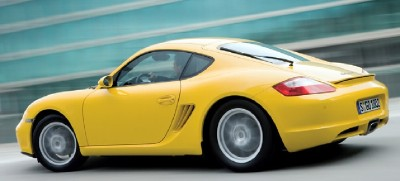 2007 Porsche Cayman rear view