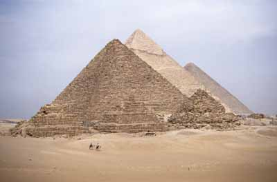 The pyramids were not built by slaves, but by ordinary Egyptians working to pay off their taxes.