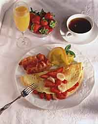 Fresh Strawberry Banana Omelet
