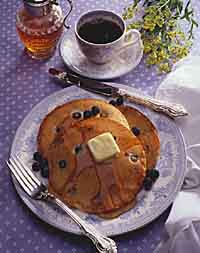 Blueberry-Cheese Pancakes