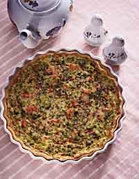 Broccoli-Salmon Quiche