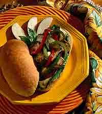 Mediterranean Vegetable Sandwich