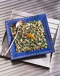 Green Pea & Rice Almondine