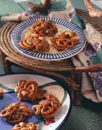 Cashew & Pretzel Toffee Clusters