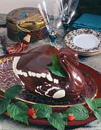 Chocolate Swan