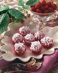 Raspberry-Coconut Truffles