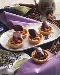 Walnut Tartlets with Chocolate Ganache Filling