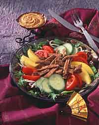 Thai Steak Salad with Peanut Dressing