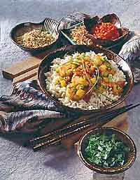 Curried Shrimp with Coconut Ginger Rice