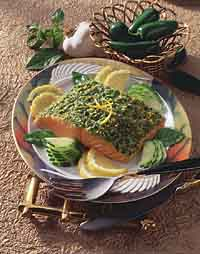 Baked Fish with Thai Pesto