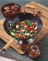Spinach and Mushroom Stir-Fry