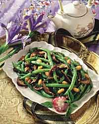 Green Beans and Shiitake Mushrooms
