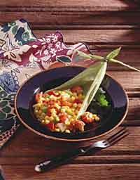 Cajun-Style Corn with Crayfish
