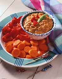 Cheesy Barbecued Bean Dip