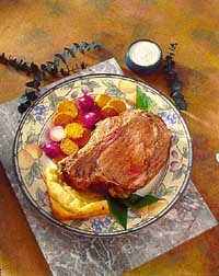 Prime Rib with Yorkshire Pudding and Horseradish Cream Sauce
