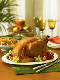 Turkey with Sausage & Cornbread Stuffing