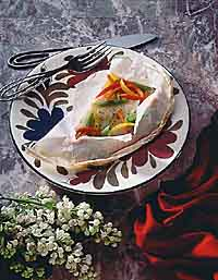 Orange Roughy in Parchment Hearts