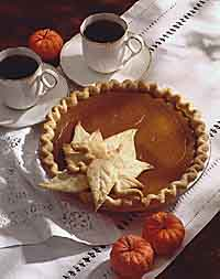 Golden Leaf Pumpkin Pie
