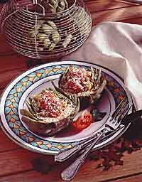 Pepper-Stuffed Artichoke