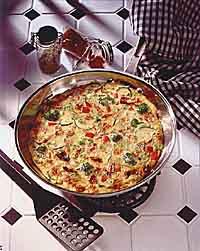 Zucchini-Tomato Frittata