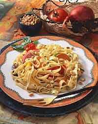 Fettuccine with Roasted Vegetables