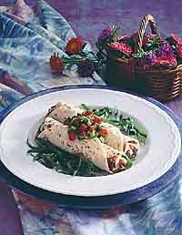Gourmet Bean & Spinach Burritos