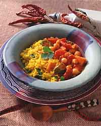 Spicy African Chickpea and Sweet Potato Stew