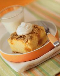 Crunchy Peach Snack Cake