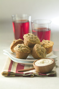 Baby Bran Muffins with Citrus Spread