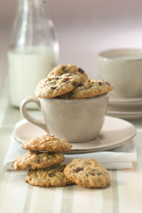 Peanut Butter, Oatmeal, Cherry and Chip Mini Cookies