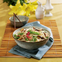 Asian Noodles with Vegetables and Chicken