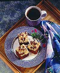 Coconut Crowned Cappuccino Brownies