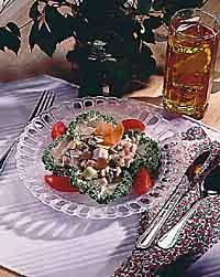 Light Chicken Vegetable Salad
